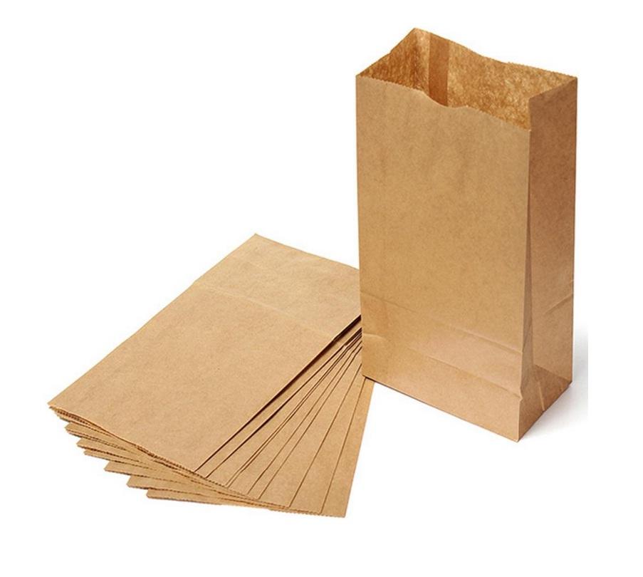 in túi giấy đáy vuông đựng bánh mì